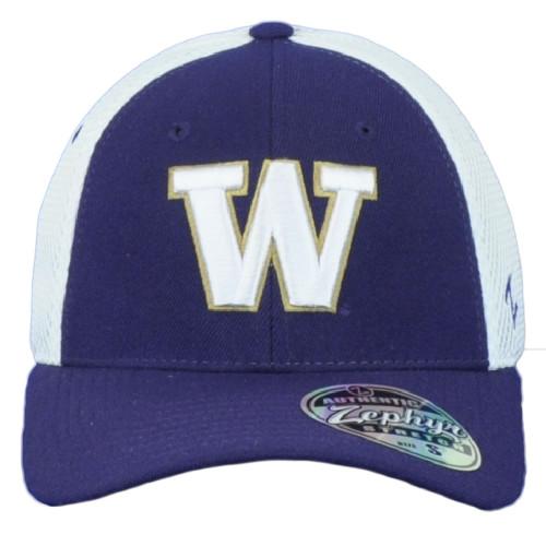 NCAA Zephyr Washington Huskies Youth Kids Jersey Mesh Stretch Two Tone Hat Cap
