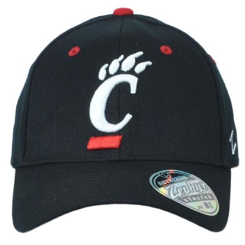 NCAA Zephyr Cincinnati Bearcats Curved Bill Fitted Youth Kids Black Hat Cap