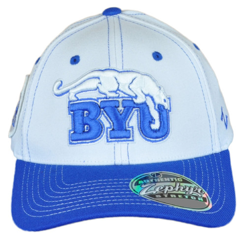 NCAA Zephyr  Brigham Young Cougars BYU Curved Bill Fitted Youth Kids Hat Cap