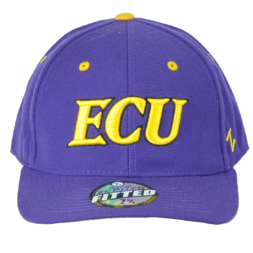 NCAA Zephyr East Carolina Pirates ECU Youth Kids Size Purple Structured Hat Cap