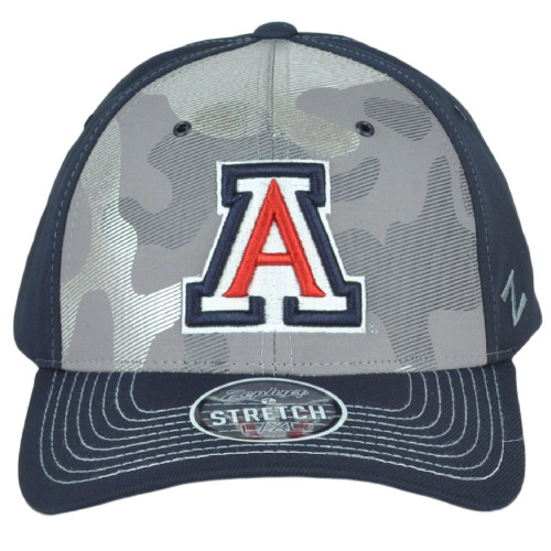 NCAA Zephyr Arizona Wildcats Gray-Navy Curved Bill Fitted Youth Kids Hat Cap