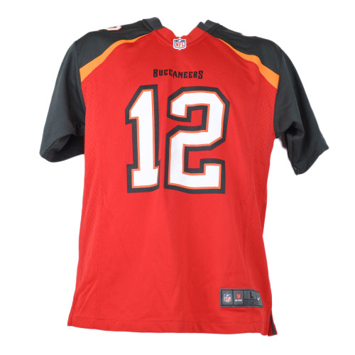 NFL Nike Tampa Bay Buccaneers Tom Brady#12 Black Red On Field Youth Jersey