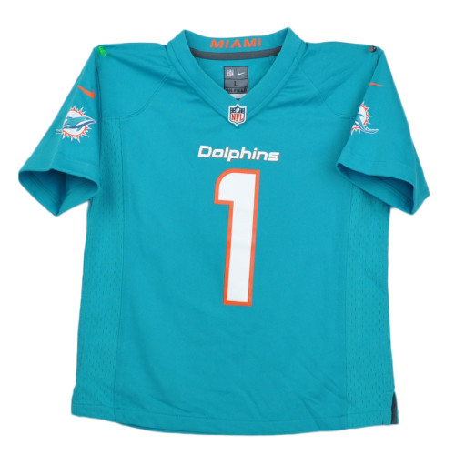 NFL Miami Dolphins Tua Tagovailoa Turquoise Nike On Field Kids Jersey