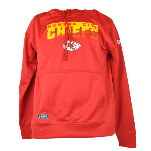 NFL New Era Kansas City Chiefs Hoodie Imprinted Pullover Red Adult Long Sleeve