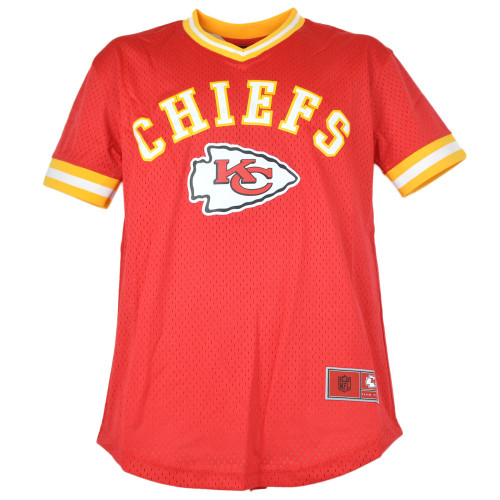 NFL Team Apparel Kansas City Chiefs V-Neck Twill Short Sleeve Youth Jersey