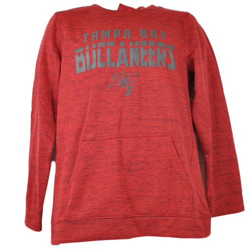 NFL Tampa Bay Buccaneers Hoodie Imprinted Pullover Youth Red Long Sleeve