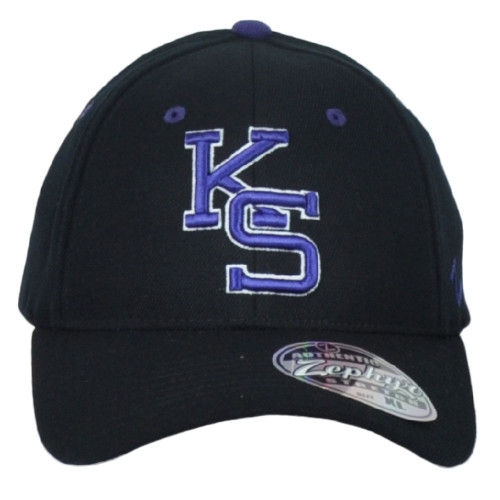 NCAA Zephyr Kansas State Wildcats Fitted X-Large Stretch Curved Bill Hat Cap