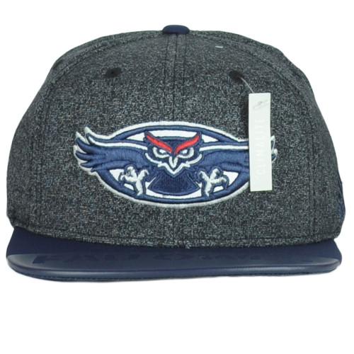 NCAA Adidas Florida Atlantic Owls 348AZ Flat Bill Snapback 2Tone Adult Hat Cap