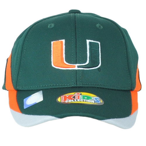 NCAA Russell Miami Hurricanes Curved Bill Adjustable Youth Kids Collect Hat Cap