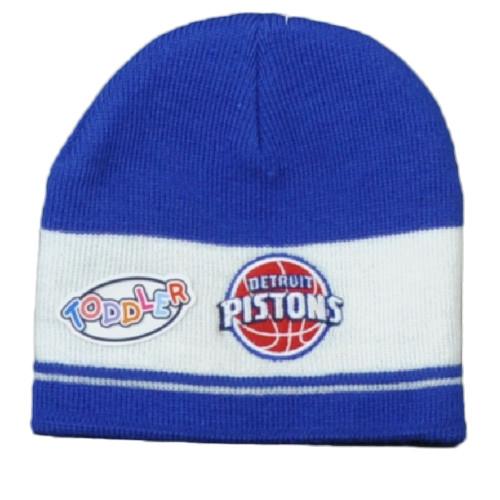 NBA Detroit Pistons Toddler Knit Beanie Kids Blue White Hat Cuffless Winter