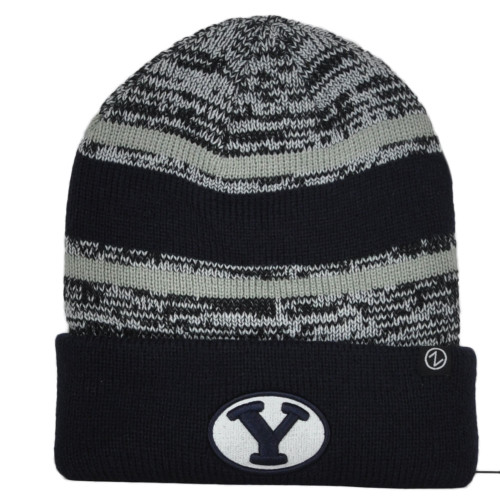 NCAA Zephyr Brigham Young Cougars Cuffed Knit Beanie Hat Winter Toque Skully