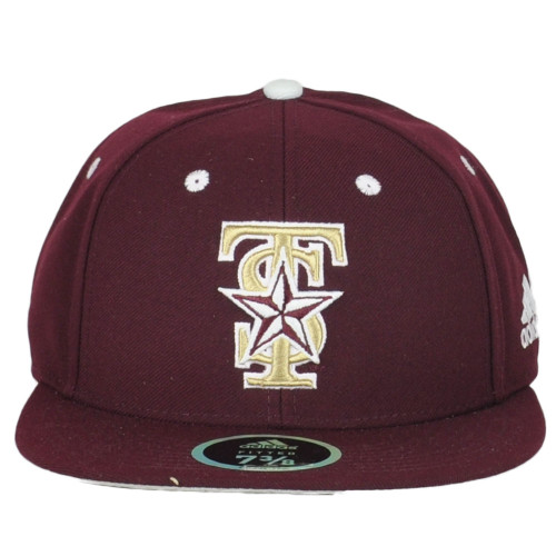 NCAA Adidas Texas State Bobcats Flat Bill Fitted Size 7 3/8 Adults Hat Cap
