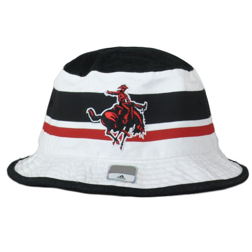 NCAA Adidas Texas Tech Red Raiders U205Z White Sun Bucket Hat Small Medium Hat