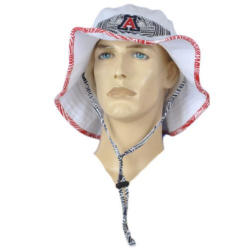 NCAA Zephyr Arizona Wildcats Kalani White Outdoor Large X-Large Sun Bucket Hat