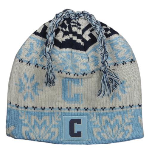 NCAA Adidas Columbia Lions KC98Z Tassle Winter Pattern Cuffless Knit Beanie Hat