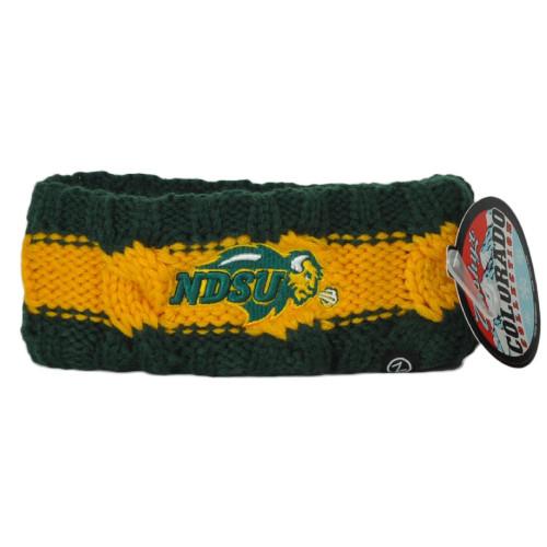 NCAA Zephyr North Dakota State Bison NDSU Thick Headband Knit Sweat Band Gym