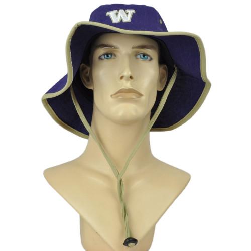 NCAA Zephyr Washington Huskies Purple Outdoor Large/X-Large Sun Bucket Hat Cord
