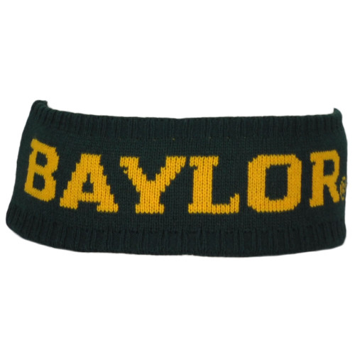 NCAA Zephyr Baylor Bears Green Headband Knit Sweat Band Gym Sports Unisex