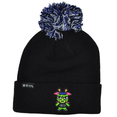 NBA Adidas Tokyodachi Orlando Magic Sapporo Black Cuffed Pom Pom Knit Beanie Hat