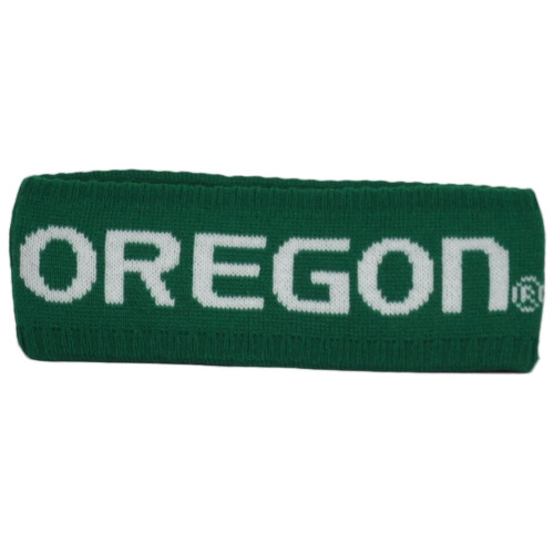 NCAA Zephyr Oregon Ducks Green Headband Knit Sweat Band Gym Sports Unisex