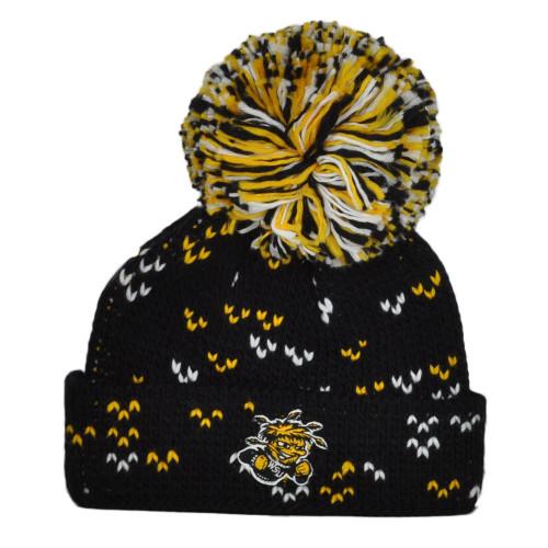 NCAA Adidas Wichita State Shockers 010KW Big Pom Pom Cuffed Knit Beanie Hat
