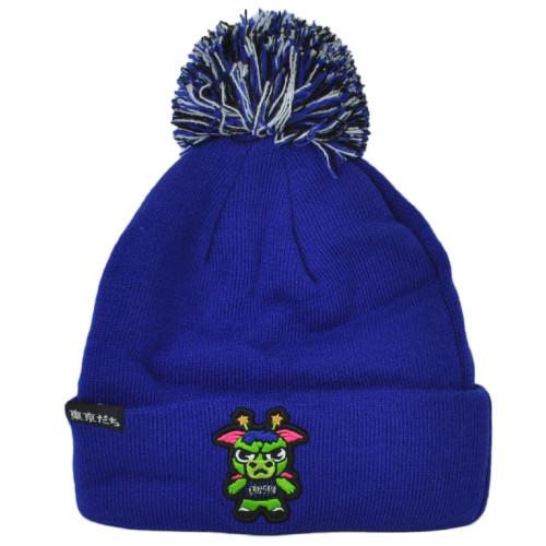 NBA Adidas Tokyodachi Orlando Magic Sapporo Blue Cuffed Pom Pom Knit Beanie Hat