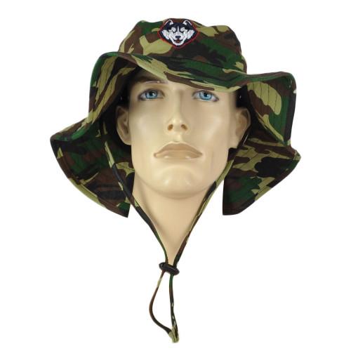 NCAA Zephyr UCONN Huskies Camo Camouflage Outdoor Sun Bucket Small/Medium Hat