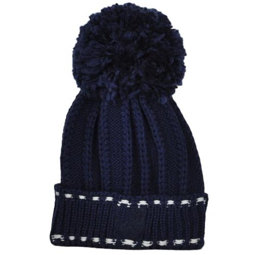 NCAA Adidas Navy Midshipmen KWR74 Blue Navy Big Pom Pom Cuffed Knit Beanie Hat