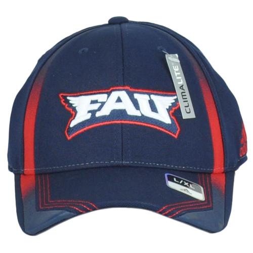 NCAA Adidas Florida Atlantic Owls FAU M065Z Adults Flex Fit Large/X-Larg Hat Cap