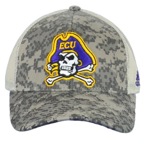 NCAA Adidas East Carolina Pirates ECU 199AZ Mesh Camo Snapback Adult Hat Cap