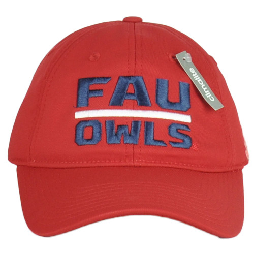 NCAA Florida Atlantic Owls W681Z Red Climate Hat Cap Curved Bill Relaxed Adult
