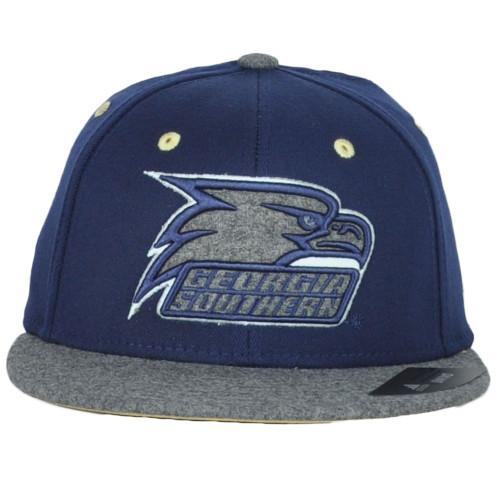 NCAA Adidas Georgia Southern Eagles 858Z Flat Bill Flex Fit Small Medium Hat Cap