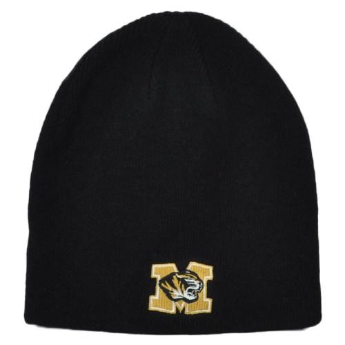 NCAA Zephyr Missouri Tigers Mizzou Cuffless Knit Beanie Hat Winter Skully Toque