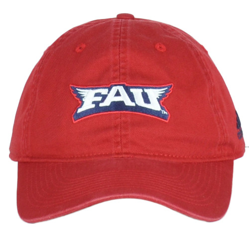 NCAA Florida Atlantic Owls EH39Z Red Relaxed Hat Cap Curved Bill Adjustable