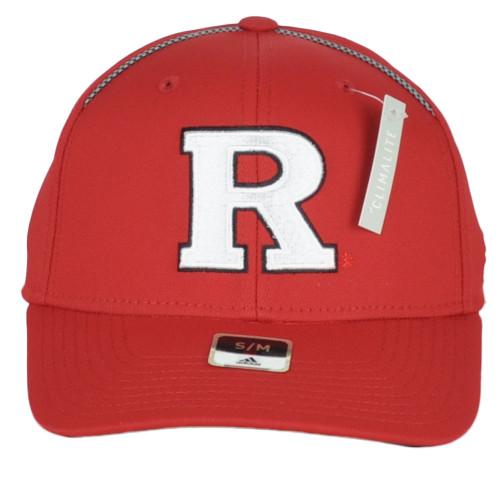 NCAA Adidas Rutgers Scarlet Knights MZ789 Curved Flex Fit Small Medium Hat Cap