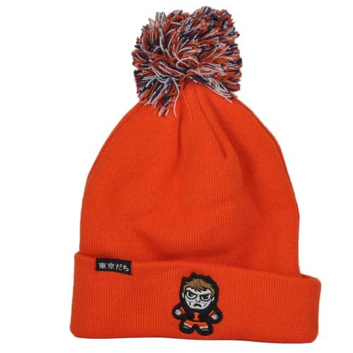NCAA Zephyr Illinois Fighting Illini Toki-Dachi Pom Pom Cuffed Knit Beanie Hat