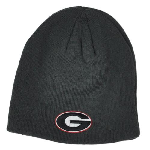 NCAA Zephyr Georgia Bulldogs Gray Cuffless Knit Beanie Hat Winter Skully Toque