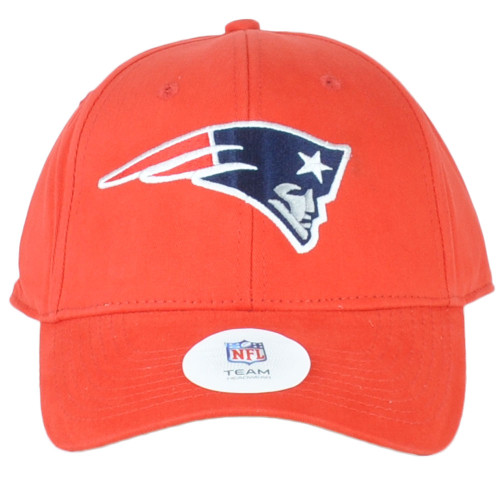 NFL New England Patriots Red Structured Curved Bill Adjustable Hat Cap Unisex