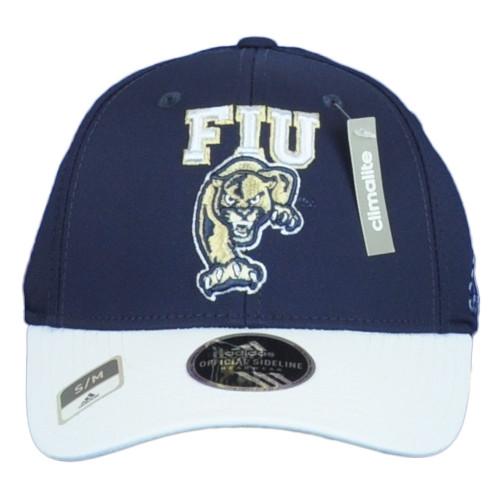 NCAA Adidas FIU Panthers Florida M540Z Structured Flex Fit Small Medium Hat Cap