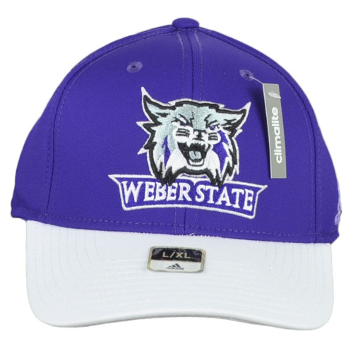 NCAA Adidas Weber State Wildcats M540Z Curved Bill Flex Fit Large XLarge Hat Cap