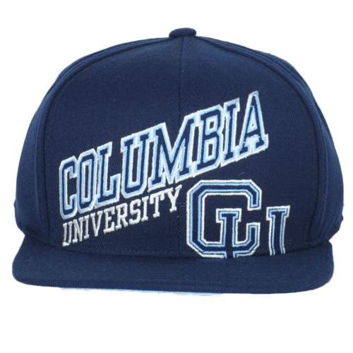 NCAA Adidas Columbia University Lions NH41Z Flat Bill Adult Snapback Hat Cap