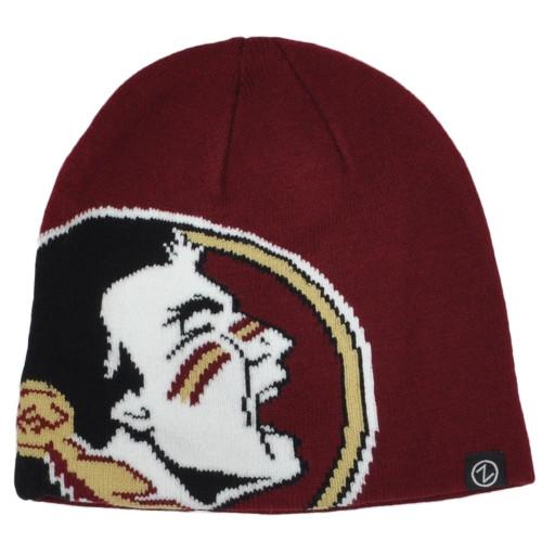 NCAA Zephyr Florida State Seminoles Cuffless Knit Beanie Hat Winter Skully Toque