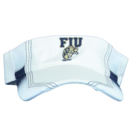 NCAA Adidas FIU Panthers White Sun Visor Hat Adjustable Adults Sports Unisex