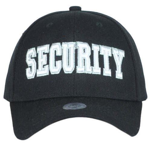 Security Guard Law Enforcement Officer Bodyguard Adjustable Black Adult Hat Cap