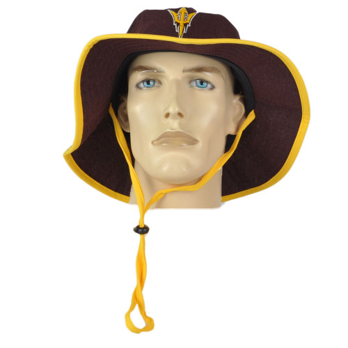 NCAA Zephyr Arizona Sun Devils Maroon Outdoor Small/Medium Sun Bucket Hat Cord
