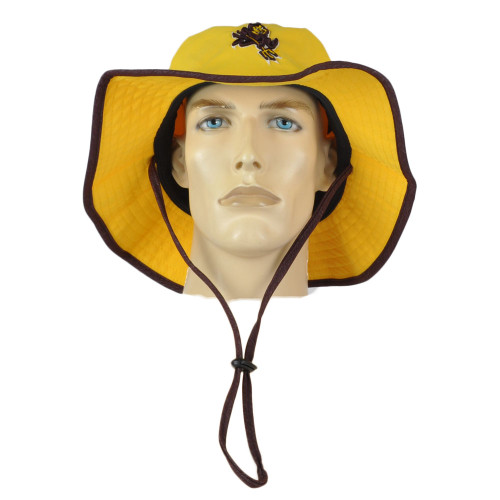 NCAA Zephyr Arizona Sun Devils Yellow Outdoor Large/X-Large Sun Bucket Hat Cord