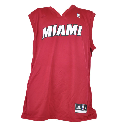 NBA Adidas Miami Heat Red Jersey V-Neck Adults Tank Top Basketball Mens Size