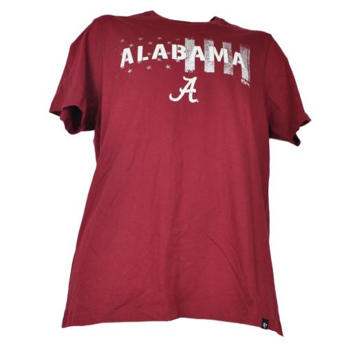 NCAA Alabama Crimson Tide Mens Tshirt Tee short Sleeve Red Crew Neck