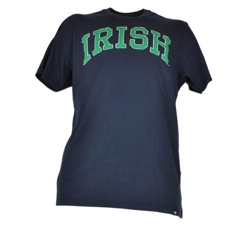 NCAA Notre Dame Fighting Irish Navy Mens Tshirt Crew Neck Tee Short Sleeve
