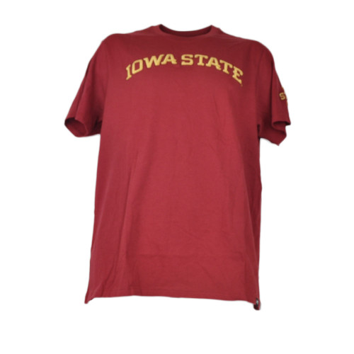 NCAA Iowa State Cyclones Mens Adult Tshirt Tee Crew Neck Red Short Sleeve